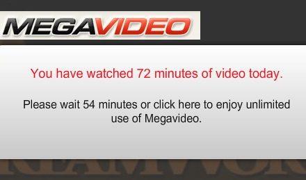 Megavideo sin límites, no más restricción de 72 minutos