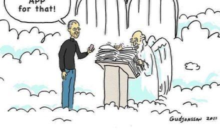 Steve Jobs en el Cielo – Top 10 imágenes [Humor]
