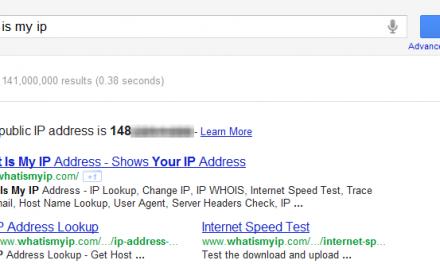 Como conocer cual es tu dirección IP con una búsqueda de Google