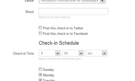 Como programar tus Check-ins en Foursquare y convertirte en Mayor