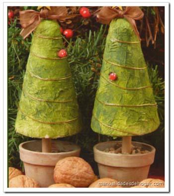 Como hacer pinos navideños de adorno [Manualidades]