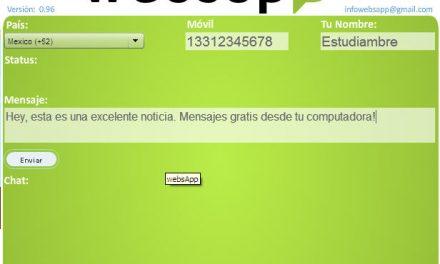 Como enviar mensajes a Whatsapp desde tu computadora: WebSapp