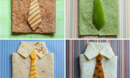 Como hacer quesadillas en forma de Camisa con corbata