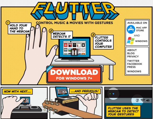 controla grooveshark, netflix, youtube y mas con movimientos de mano
