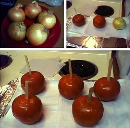 Broma manzanas de caramelo